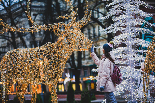 Finland Christmas Decorations.Christmas Decorations In The Streets Of Helsinki With