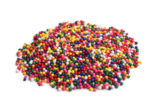 Assorted colored sprinkles