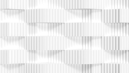 White Color Stairs Abstract 3d Render Illustration