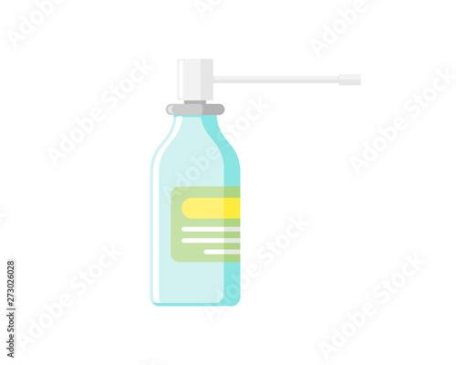 Medical blue nasal spray medicine dispenser for treatment of