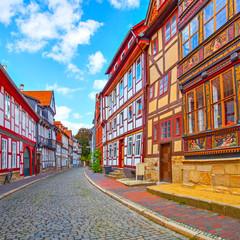 Wall Mural - Street in old german town