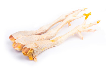 Papiers peints Biere, Cidre Raw chicken legs isolated on white background.