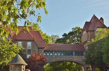 Forest Hills Neighborhood in Queens New York is filled with Historic Buildings and Old Fashioned Architecture