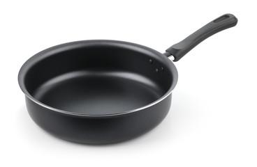 Empty nonstick frying pan