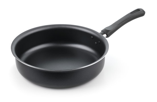 Empty nonstick frying pan