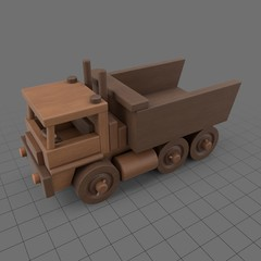 Wooden toy truck 1