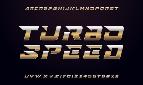 Modern gold font design.