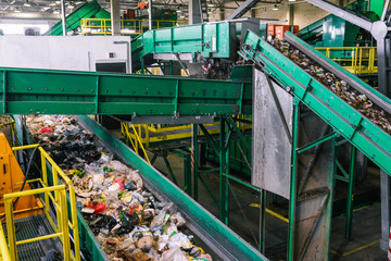 Rabat waste sorting plant. Recycling and sorting of household waste at the plant. Automatic sorting line. Environmental Safety