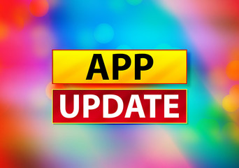 App Update Abstract Colorful Background Bokeh Design Illustration