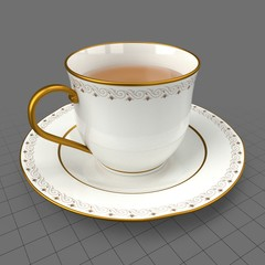 Cup of tea with saucer