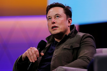 SpaceX owner and Tesla CEO Elon Musk speaks during a conversation with legendary game designer Todd Howard at the E3 gaming convention in Los Angeles