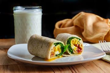 Eggs Bacon Breakfast Wrap