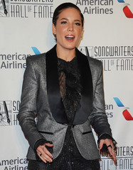 Halsey arrives for the Songwriters Hall of Fame Inductions in Manhattan