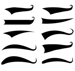 Text Tail Typography Elements on white background. flat style. Typographic swash and swooshes tails sign for your web site design, logo, app, UI. Font Tail symbol. Swoosh and swash tails sign.