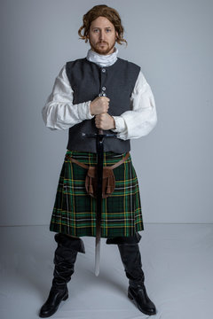 18th Century Scotsman with sword