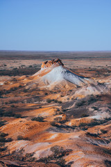 Mountain in the Breakaways in the near of Coober Pedy