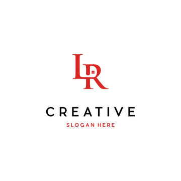 Letter LR Home Logo Design