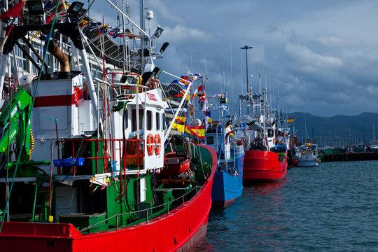 Puerto pesquero de Santoña, Cantabria, Mar Cantábrico, España