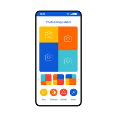 Photo collage maker smartphone interface template