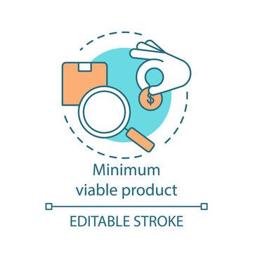 Minimum viable product concept icon