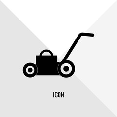 Lawn mower vector icon illustration sign