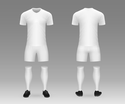 3D realistic template soccer kit