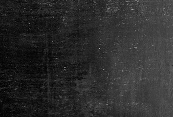 Fototapete - Blank front Real black chalkboard background texture in college concept for back to school kid wallpaper for create white chalk text draw graphic. Empty old back wall education blackboard.