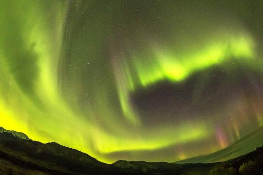 アラスカのオーロラ aurora generated near Alaska Fairbanks