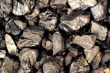 Coal fossil fuels close-up -Concept Energy