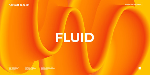 Trendy design template with fluid and liquid shapes. Abstract gradient backgrounds. Applicable for covers, websites, flyers, presentations, banners. Fototapete