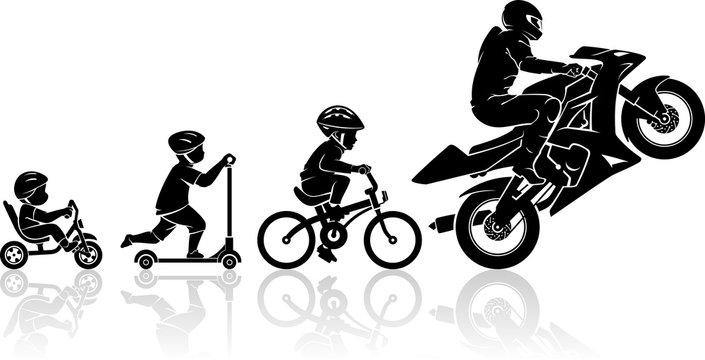 Sports Motorcycle Stages of Human Development