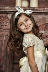Vintage portrait of a little girl
