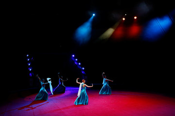 """Artists perform during the presentation of the new show """"Parade Ole-Ole-Ole!"""" at the Belarus State Circus in Minsk"""