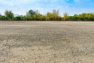 The vast soil courtyard Fototapete