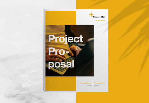 Project Proposal Layout with Orange Accents