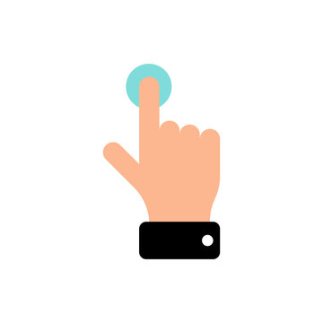 Vector touch screen gesture swipe hand finger icon. Flat illustration pictogram for web site design or mobile app