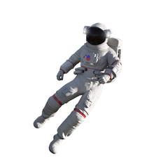 Astronaut isolated on white background. Floating