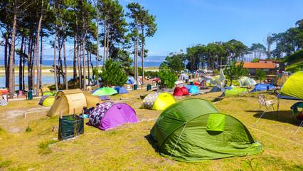 Cies Islands. Atlantic National Park. Vigo. Galicia,Spain