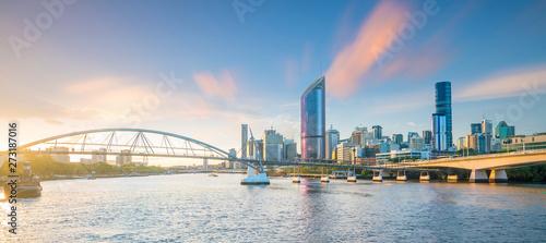 Fotomurales Brisbane city skyline  at twilight in Australia