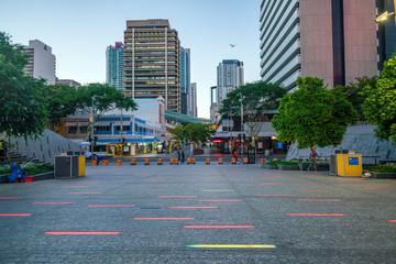 Fototapete - Brisbane city skyline  at twilight in Australia