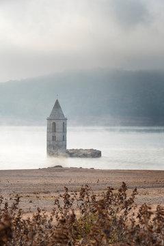 Church sunk in the lake