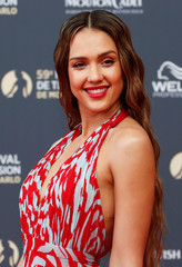 Actor Jessica Alba poses during the opening ceremony of the 59th Monte-Carlo Television Festival in Monaco