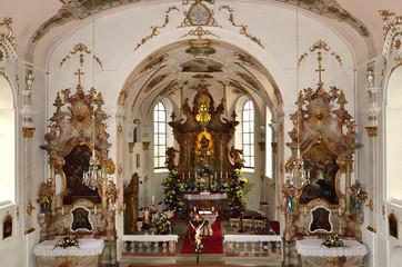 Altarraum der Wallfahrtskirche Maria-Hilf, Allgäu
