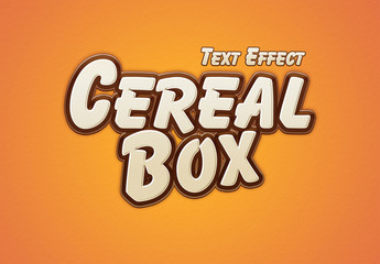 Cereal Box Style Text Effect