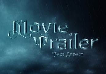 Steel Gothic Movie Trailer Text Effect