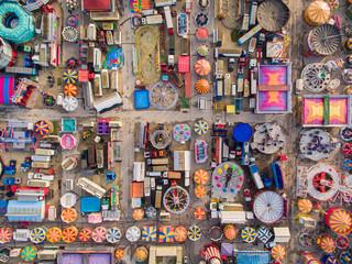 Aerial view of Hull Fair