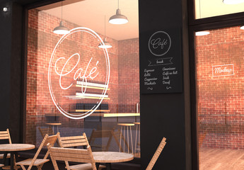 Outdoor Cafe Mockup
