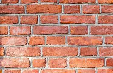 The vintage brick wall texture