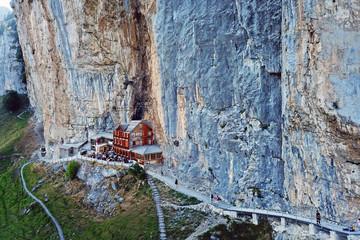 Aescher Cliff, Appenzell, Switzerland