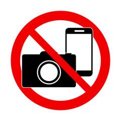 No photo and no phone sign - forbidden sign
